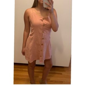 Pink Cross Back Dress